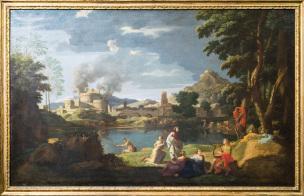Poussin 1648 Orphee et Eurydice Louvre