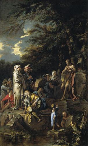 Rosa 1660 ca Saint Jean Baptiste prechant City Arts Museum Saint Louis