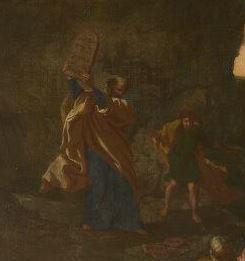 Poussin 1633-34 L'adoration du Veau d'Or National Gallery Londres detail
