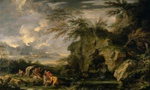 Rosa 1655 ca the-finding-of-moses-Detroit Institute of Arts