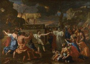 Poussin 1633-34 L'adoration du Veau d'Or National Gallery Londres