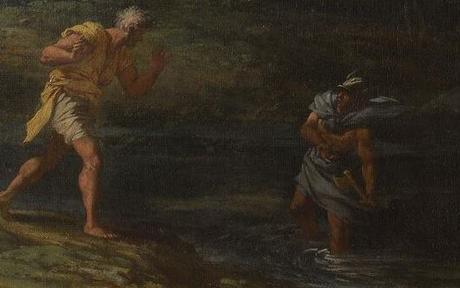Rosa 1649 apres Mercure et le bucheron malhonnete National Gallery detail