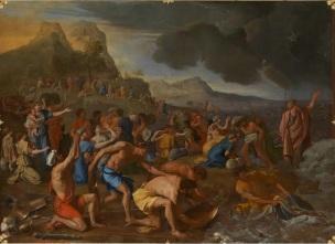 Poussin 1632-1634 Le passage de la Mer Rouge Victoria Gallery of Arts