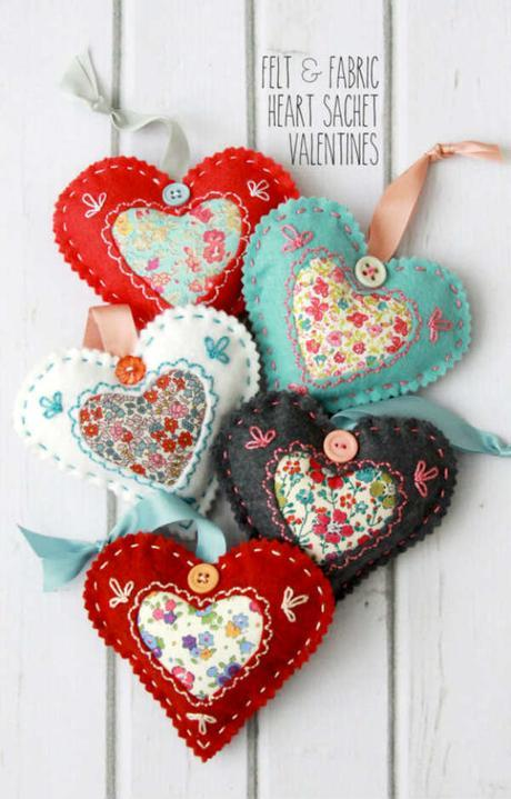 10 idées super mignonnes pour coudre des coeurs