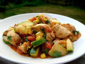 poulet curry courgettes