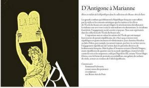 E N S B A  – Beaux Arts de Paris   « Manifesto » d'Antigone à Marianne 24 Février au 20 Avril 2017