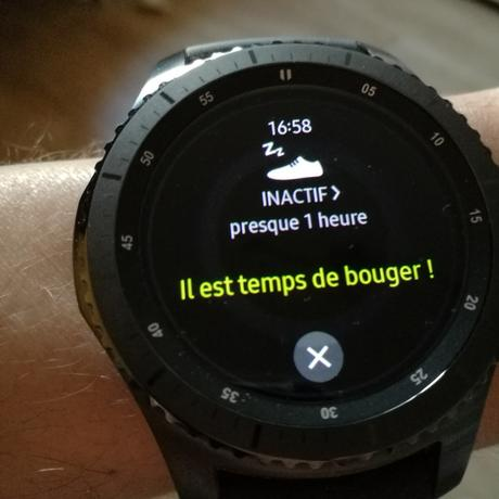 Test de la montre connectée Gear S3 Frontier