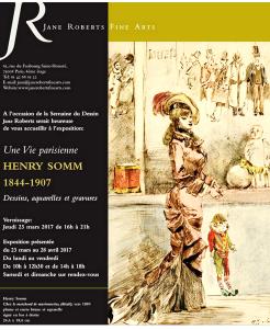 Galerie Jane ROBERTS Fine Arts  23 Mars au 28 Avril 2017- Henry Somm (1844-1907) (  Juliette Marange « Comme aux ciels »