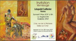 Galerie VAGABONDE de Selles sur cher 41 130 – Exposition Léopold Cuillerier – 9/26 Mars 2017