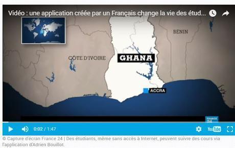 Ghana, une start-up cree une application qui permet de suivre des cours via un smartphone et meme sans acces a internet.