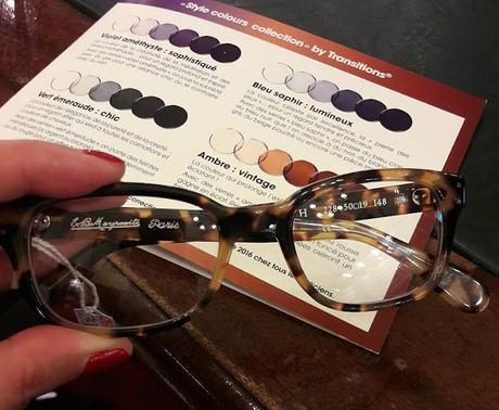 Mes nouvelles lunettes avec des verres Transitions À Lire