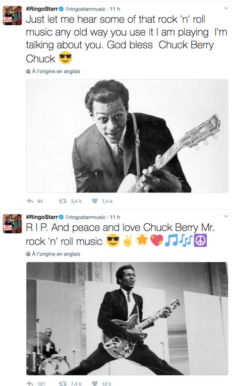 Chuck Berry : quelques hommages de la sphère Beatles