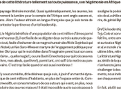 Nigéria littéraire entre frustration admiration francophone
