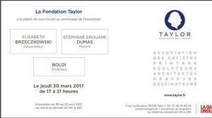Fondation TAYLOR  Exposition du 30 Mars 2017  Exposition Elisabeth Brzeczkowski – Stéphane E Dumas- Boldi