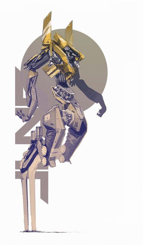 Le graphiste et illustrateur Daniel Hahn imagine des robots au look parfait