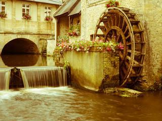 Waterwheel in Bayeux, Normandy