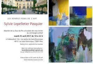 Les Rendez-vous de l'Art- à partir du 25 Avril 2017  exposition Sylvie Lepelletier Pasquier