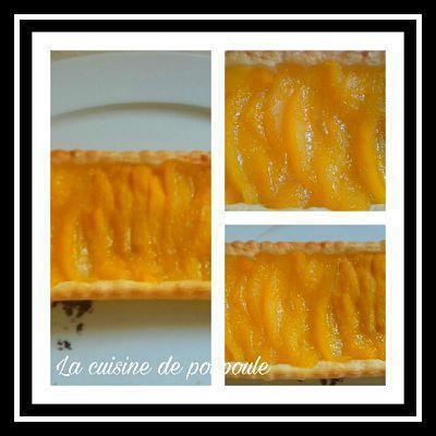 Tarte fine à la mangue