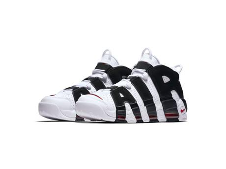 Nike Air Uptempo White Black Varsity Red