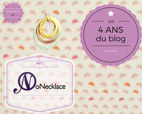 💎 4 ans du blog 💎 ONecklace conclue en beauté en vous offrant votre bijou personnalisé UNIQUE !