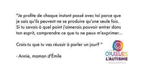 Autisme, la couleur d'Émile #30couleurs  Julie Philippon Mamanbooh