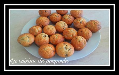Muffins banane et pépites de chocolat au thermomix ou sans