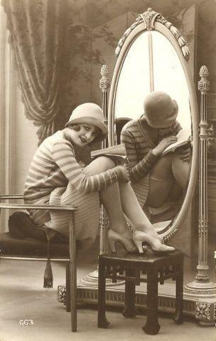 Carte postale erotique, vers 1920
