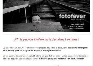 Parcours FOTOFEVER PARIS à partir du 20 Avril 2017
