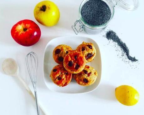 Les Muffins Pommes Citron Pavot (SG & SL) d'Healthy And Green