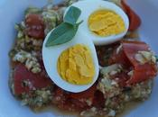 salade quinoa, tomates oeufs durs
