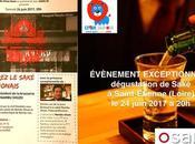 ÉVÈNEMENT EXCEPTIONNEL dégustation Saké Saint-Etienne (Loire) juin 2017