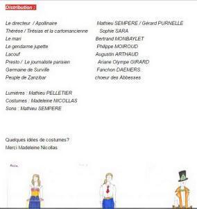 « Autour des Mamelles de Tirésias  »  à CINE 13 à Montmartre – le  25 Juin 2017 (16h30)