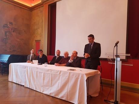 Léonard Burnand, Vincent Valentin, Damien Theillier, Alain Laurent, Jean-Philippe Feldman et Pierre Bessard