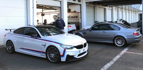 BMW M4 F82 et M3 CSL E46 à Magny-Cours