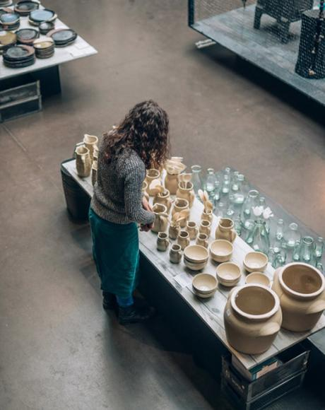 collection vases en grès vintage lovmint