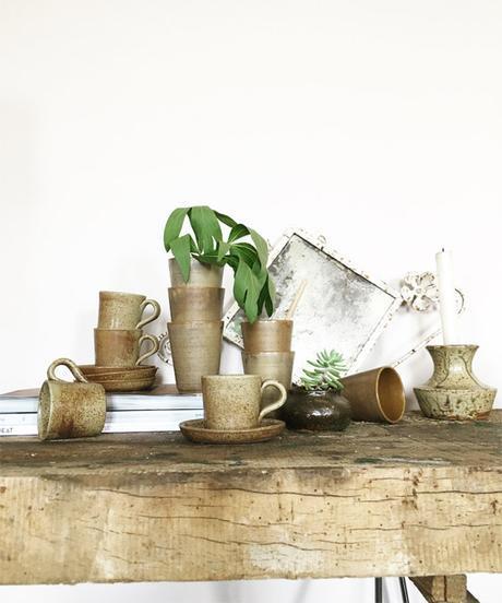 collection tasses café en grès vintage lovmint