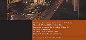 Galerie Jane ROBERTS  Exposition Thomas IVERNEL   » NUIT PARIS  »  18 Mai au 30 Juin 2017
