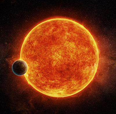 Artist's impression of the newly discovered rocky exoplanet
