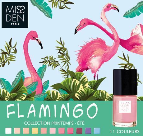 Miss Den : Flamant rose jusqu'au bout des ongles !