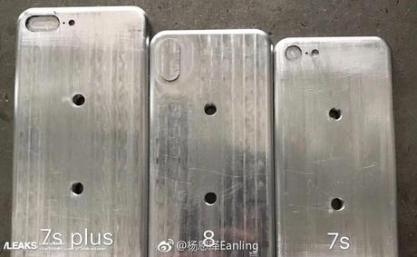 iPhone 8, iPhone 7S & 7S Plus : les moules se dévoilent en photo