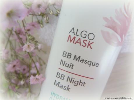 Belle au réveil avec le masque de nuit Algotherm