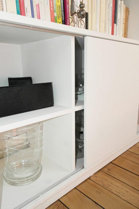 biblioth que sur mesure et sous pente lire. Black Bedroom Furniture Sets. Home Design Ideas