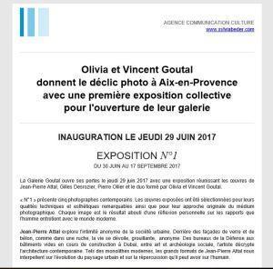 AIX EN PROVENCE Galerie GOUTAL à partir du 28 Juin 2017