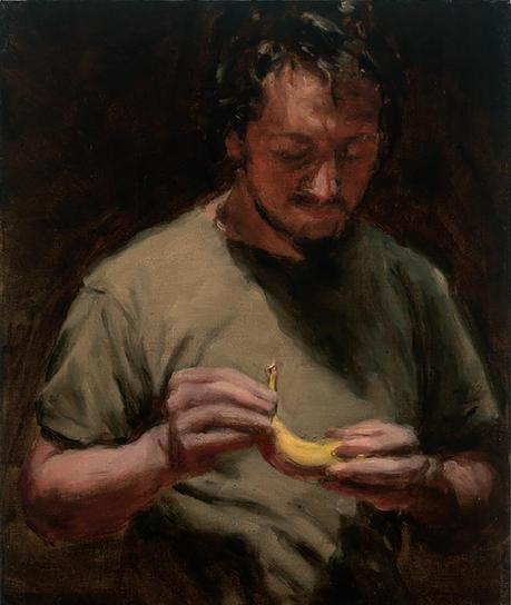 michael borremans, artiste peintre, peinture, portrait, the banana