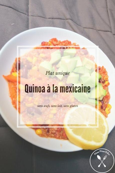 Quinoa à la mexicaine : une recette relevée sans œufs, sans lait et sans gluten