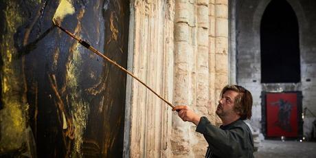 ronan barrot, exposition, artiste peintre, courbet, festival avignon, eglise des celestins, 2017