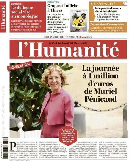 La très sociale Muriel Penicaud a réalisé une plus value personnelle de 1266€ par salarié licencié chez Danone.