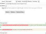 Comment supprimer d'un coup tous liens dans articles WordPress