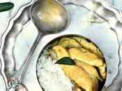 Filets poulet curry jaune, coco feuilles Limettier