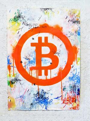 BITCOIN  FORK ART by JP MALOT